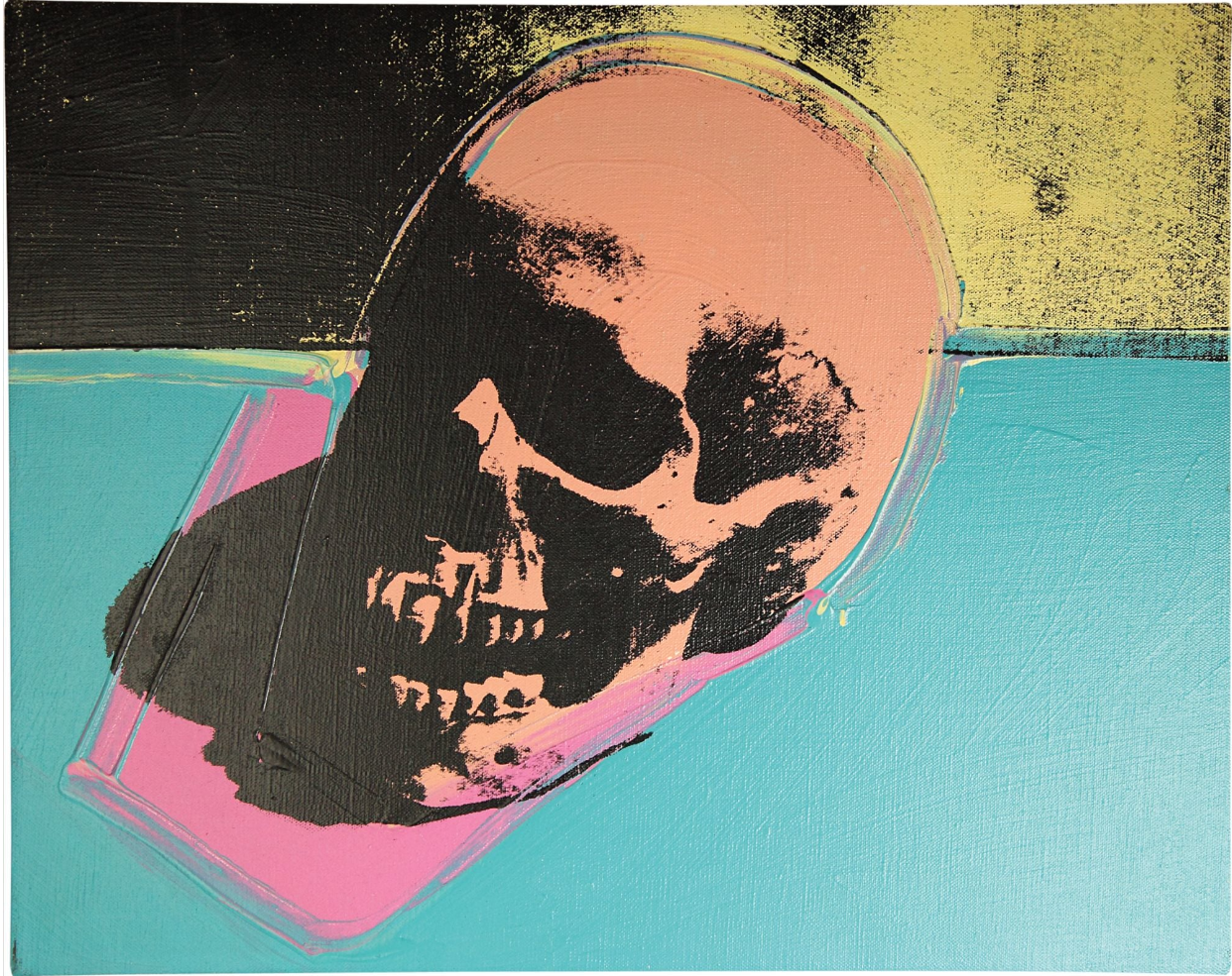 Screenprint of a skull by Andy Warhol, 1976