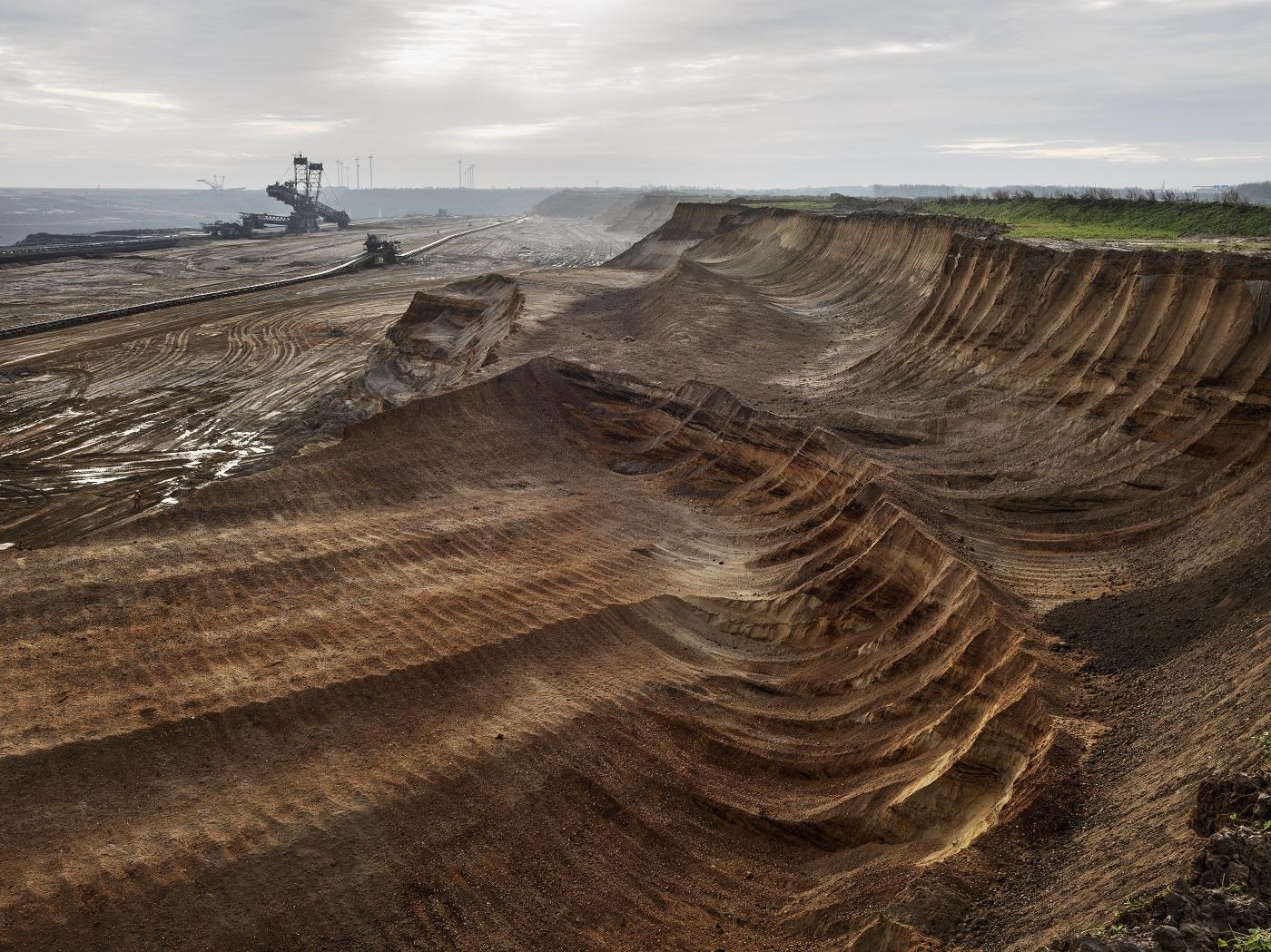 Aerial photo of a coal mine to illustrate the concept of solastalgia