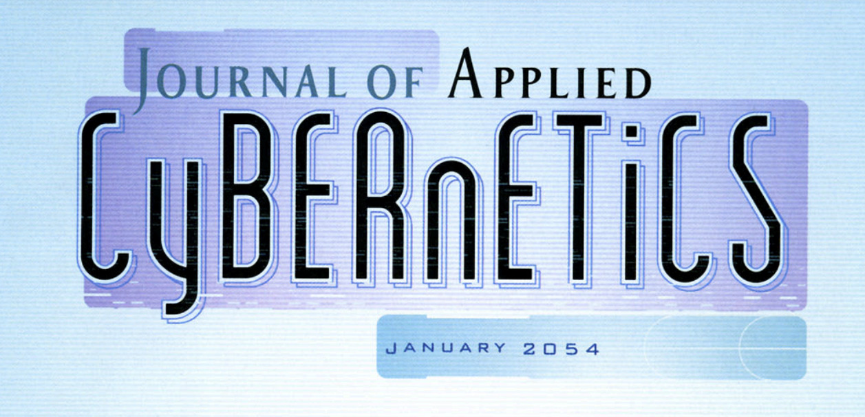 Screenshot fo the header of the fictional 'Journal of Applied Cybernetics' featured in the comic series The Surrogates