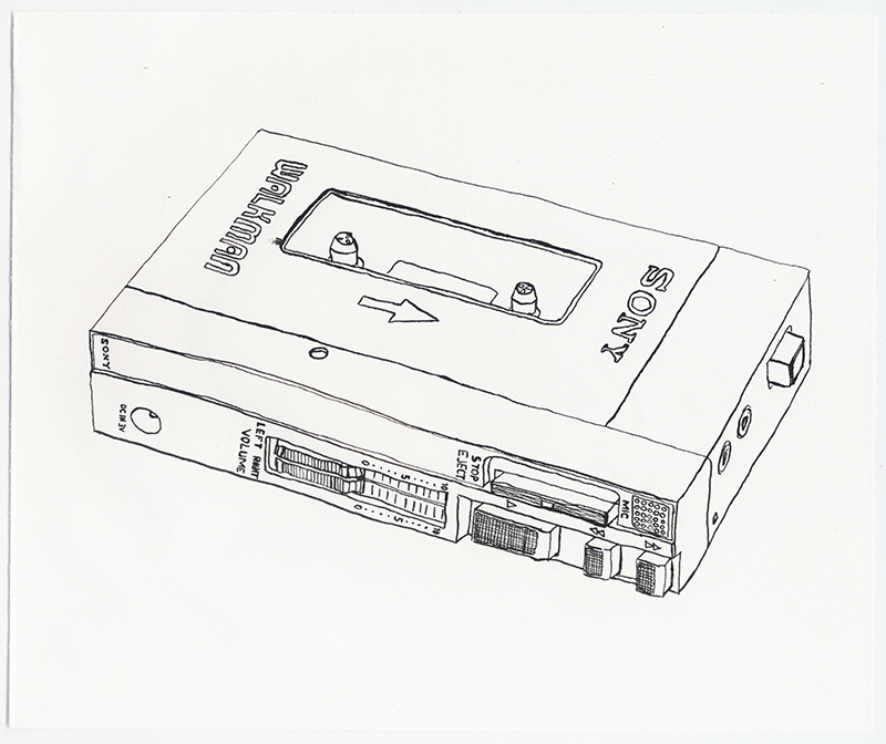 "Erik Dalzen, ""Sony TPS-L2 Walkman 1st Portable Cassette Player"", 2008"