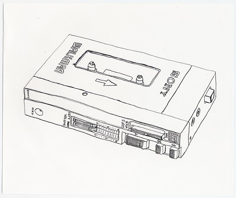 """Erik Dalzen, """"Sony TPS-L2 Walkman 1st Portable Cassette Player"""", 2008"""
