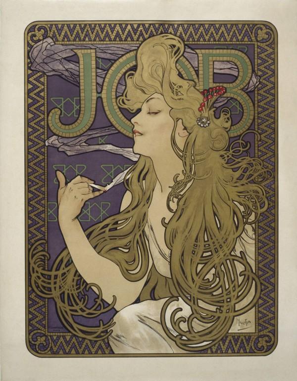 """Job"" by Alphonse Mucha, 1898"