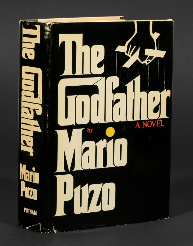 Book jacket for Mario Puzo's The Godfather designed by S. Neil Fujita
