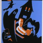"""Posters from the WPA: """"October's 'bright blue weather' : A good time to read!"""""""