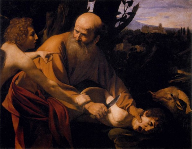 """Sacrifice of Isaac"" by Caravaggio (1601-02)"