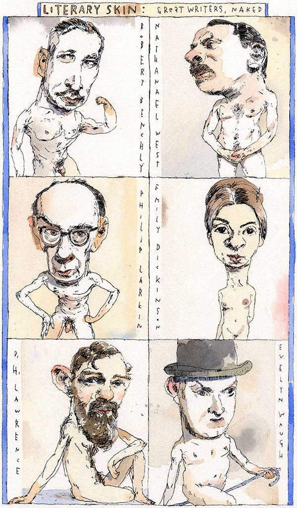 """Literary Skin: Great Writers, Naked"" by John Cuneo"