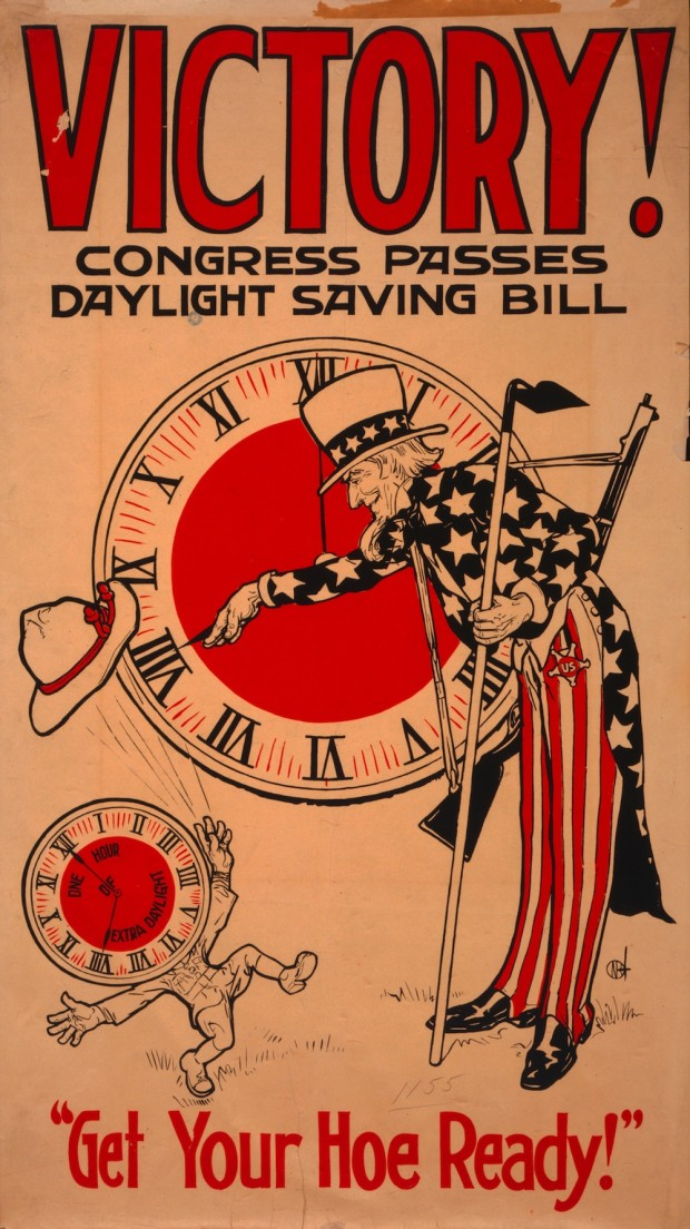 """Saving daylight ends, for 1918..."""