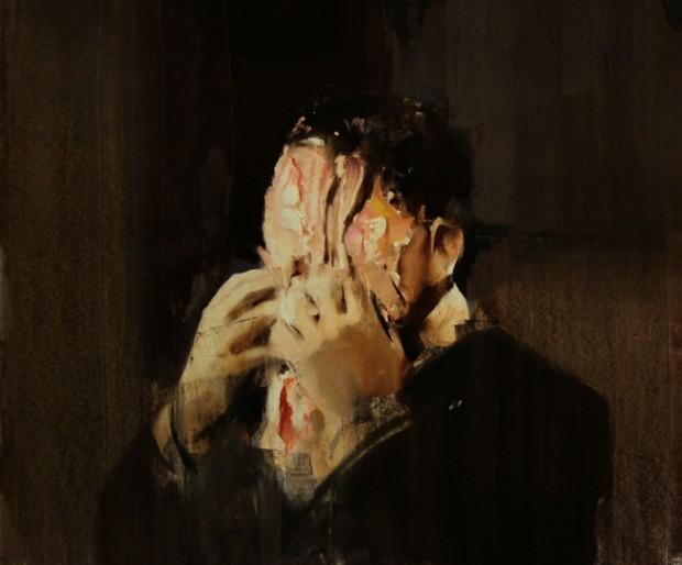 """""""Pie Fight Study 2"""" by Adrian Ghenie, 2008"""