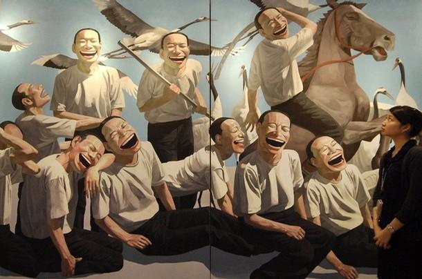 """The Massacre at Chios"" by Yue Minjun, 1994"