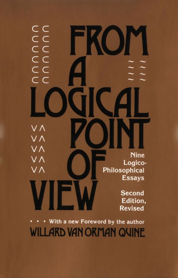 Cover for the first edition of W.V. Quine' book From A Logical Point of View (1953)