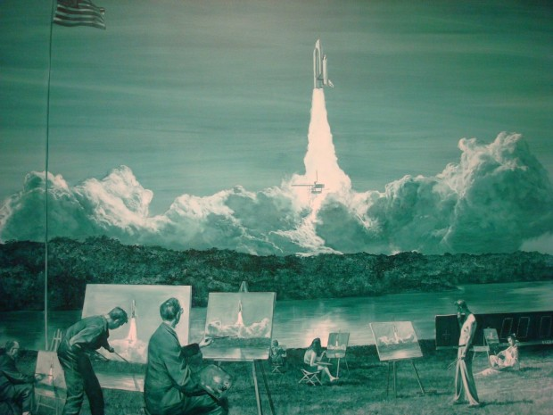 """Action Painting II"" by Mark Tansey, 1984"