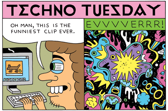 """Best Clip Ever"", Techno Tuesday by Andy Rementer, Nov. 2010"