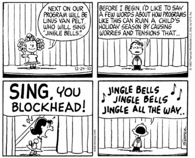 Peanuts by Charles M. Schultz, Dec. 24th, 1963