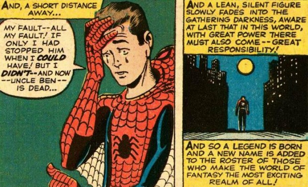 Amazing Fantasy #15 by Steve Ditko and Stan Lee, August 1962