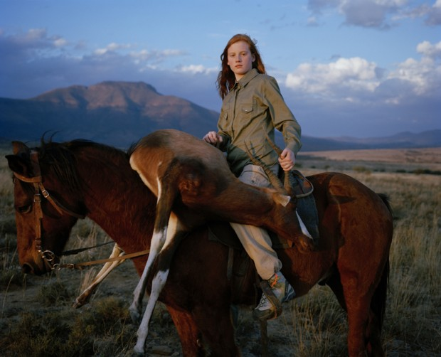 """Huntress with buck, south africa"" by David Chancellor, from the series Hunters"