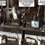 DigitalGlobe commercial satellite image of the Fukushima Daiichi nuclear site taken at 9:35AM local time on March 16, 2011.