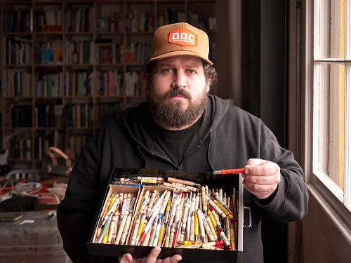 aaron draplin from ddc talks about his love for pencils. Black Bedroom Furniture Sets. Home Design Ideas