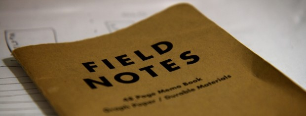 Field Notes by Graham Ballantyne, 2009