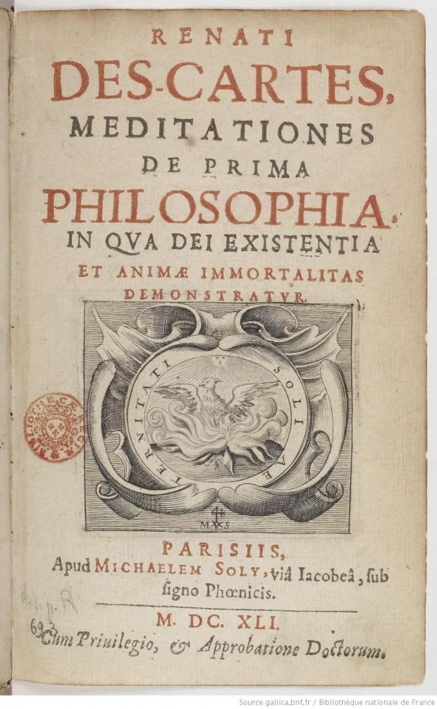Meditationes de prima philosophia by René Descartes, 1641