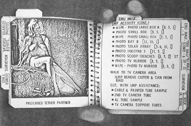 Apollo 12: Pete Conrad's Cuff Checklist, Playmate No. 2