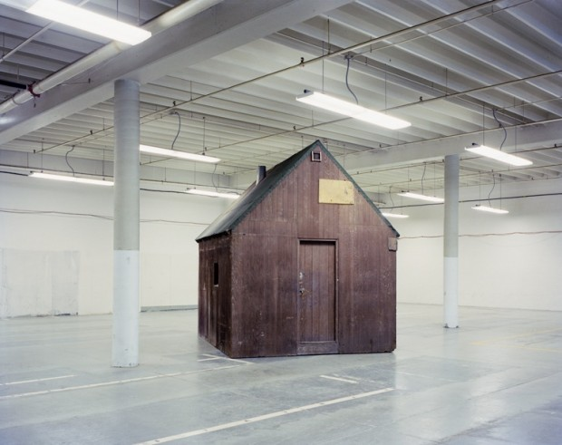 Photo of Ted Kaczynski's cabin by Richard Barnes, 2000