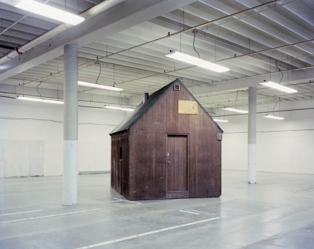 Photo of Ted Kaczynski's cabin by Richard Barnes, 2000