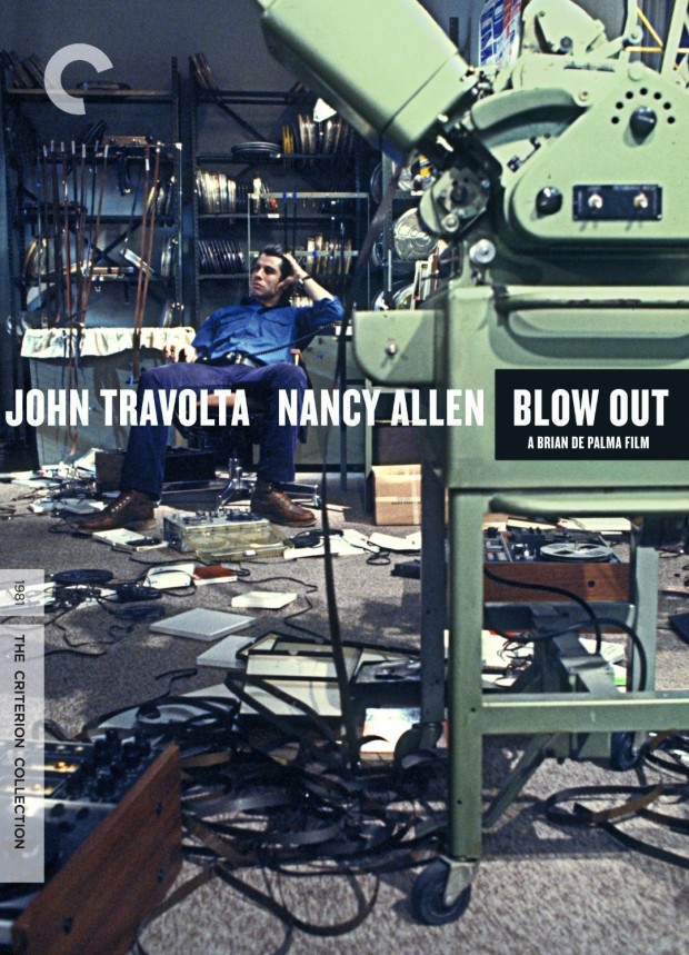 Box cover design for The Criterion Collection edition of Bran De Palma's Blow Out (1981)