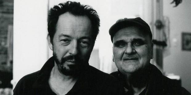 Filmmaker Michel Lamothe (left) and photographer John Max (right), 2011