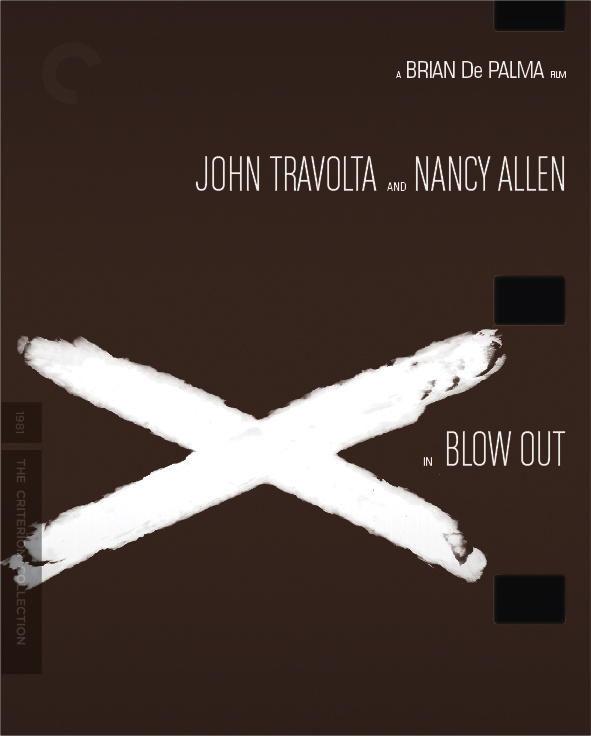Unused cover concept by F Ron Miller for The Criterion Collection edition of Brian De Palma 'Blow Out': the tire:  X marks the spot.