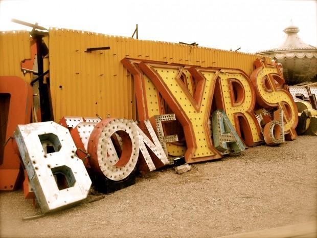 """BoNE YaRd$"" photo from the Neon Boneyard (Las Vegas), by Pam Sattler,  February 21, 2009"