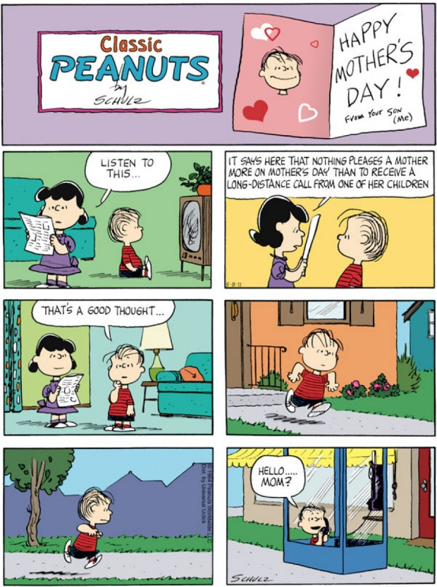 """Happy Mother's Day"" from Peanuts, by Charles M. Schultz"