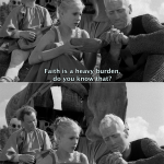 To believe (The Seventh Seal by Ingmar Bergman, 1957)