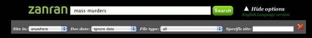 Zanran's advanced search options