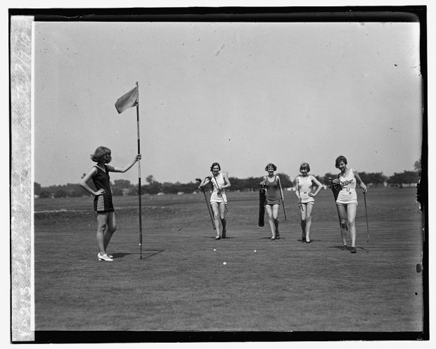 """""""Golf and bathing suits"""" (c) July 9, 1926"""