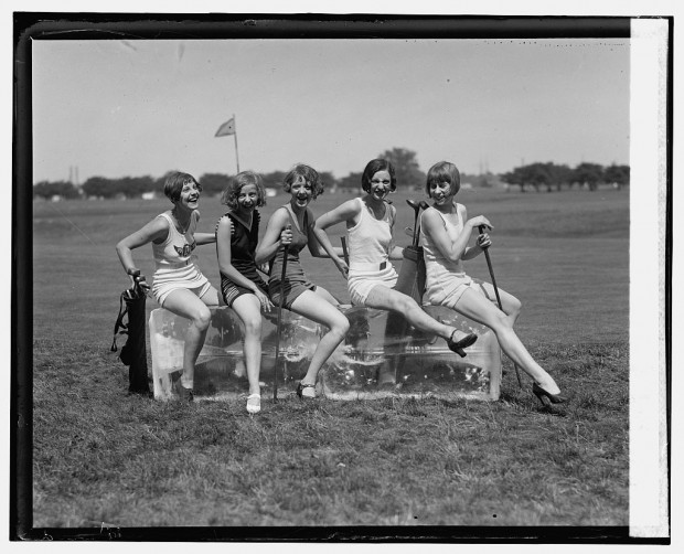 """""""Golf and bathing suits"""" (b) July 9, 1926"""
