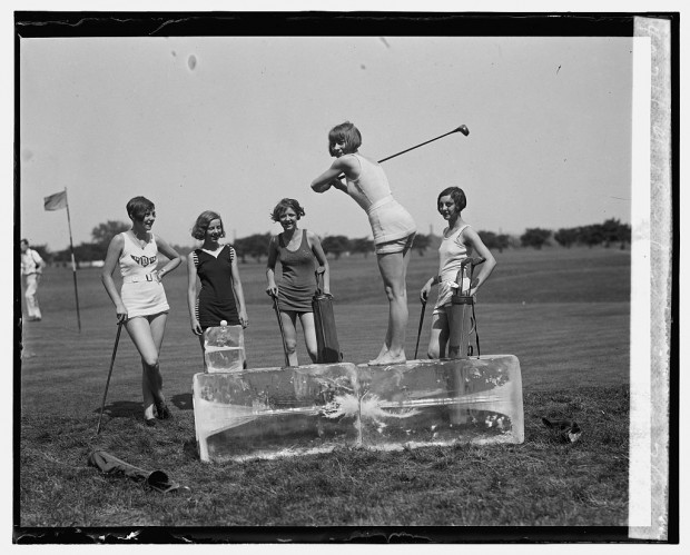 """Golf in bathing suits"", July 9, 1926"