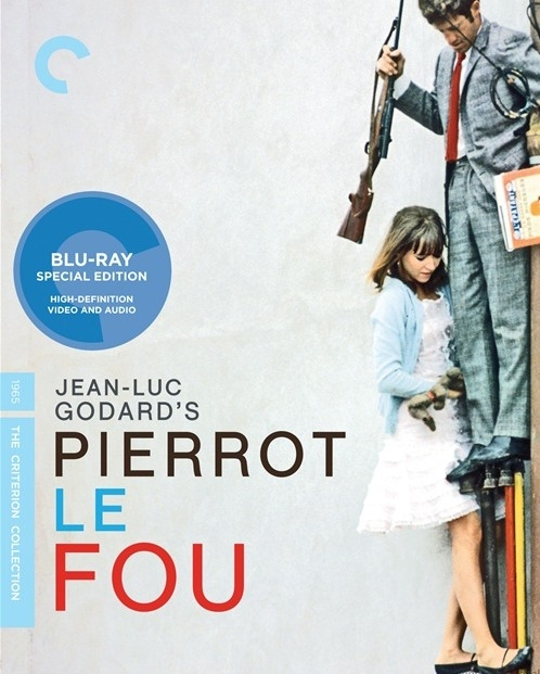 Cover design for the The Criterion collection edition (2008) of Pierrot le fou by Jean-Luc Godard, 1965