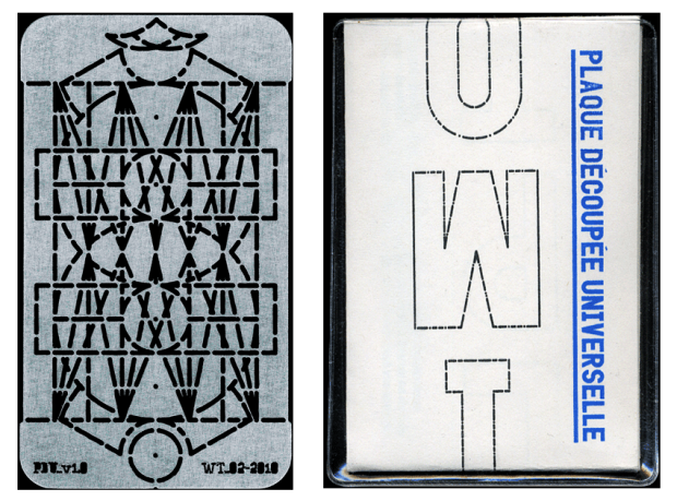 """Plaque découpé universelle"" (reproduction and photo by Dries Wiewauters)"