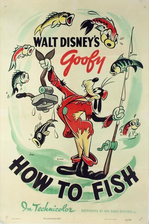 """How to Fish"" by Walt Disney, 1942"