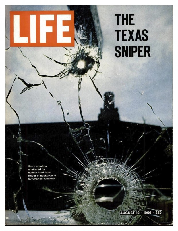 """The Texas Sniper"": front cover for LIFE magazine vol. 61, no. 7, August 12, 1966"