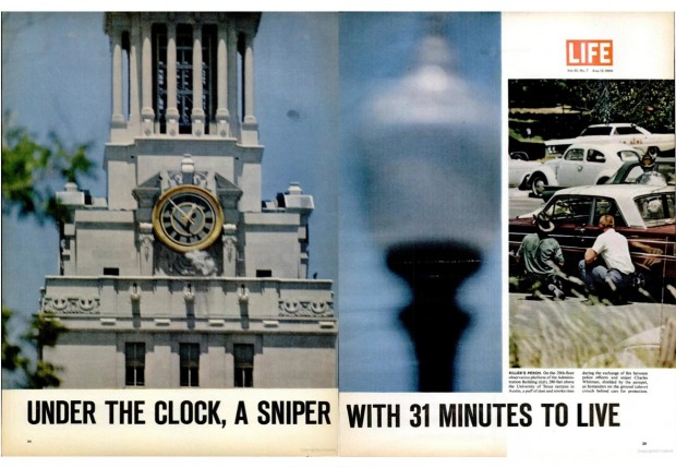 """The Texas Sniper"", LIFE magazine vol. 61, no. 7, August 12, 1966, pp. 24-25"