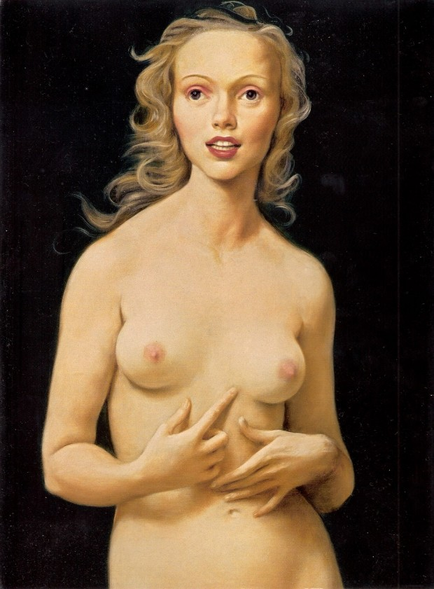 """Honeymoon Nude"" by John Currin, oil on canvas, 1998"
