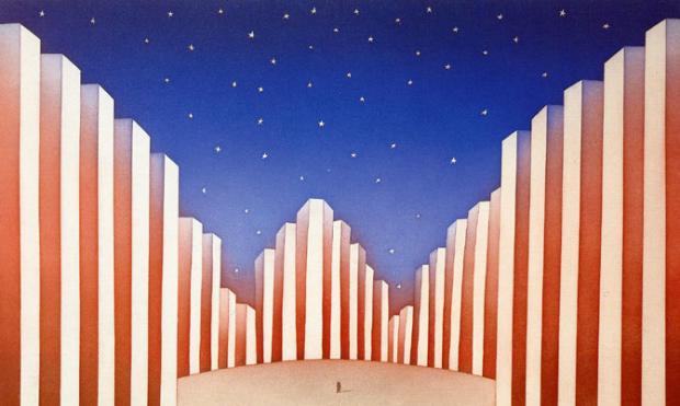 """""""American Flag"""" by Jean-Michel Folon, 1990"""