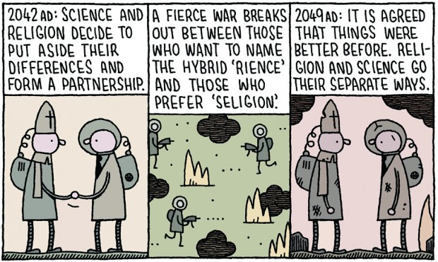 """Science and Religion"" by Tom Gauld, August 2011"