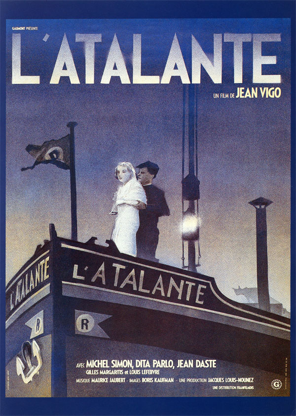 Poster for Jean Vigo's L'Atalante (1934) illustrated by Michel Gondry (1990)