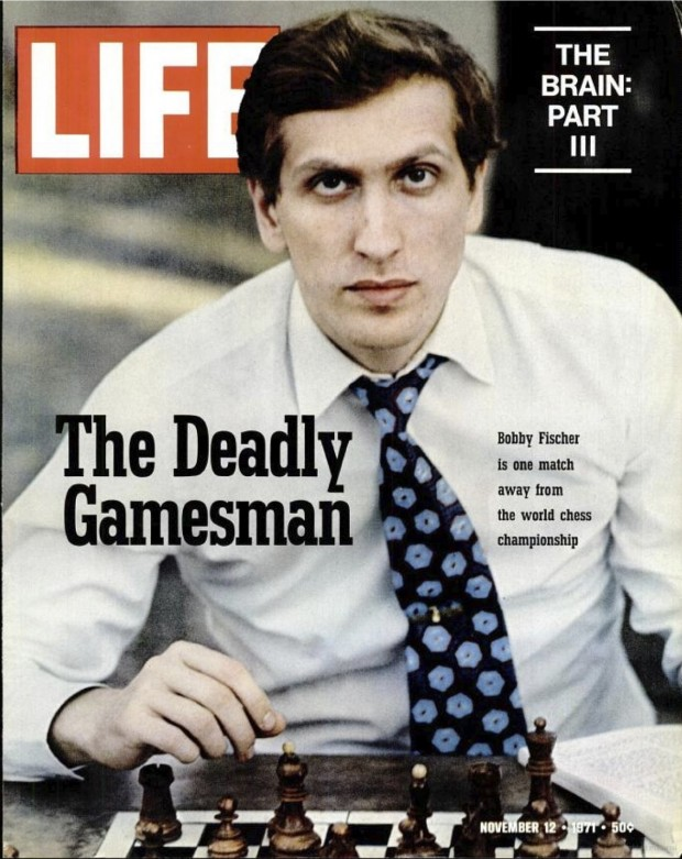 Bobby Fischer on the cover of LIFE magazine for November 12, 1971