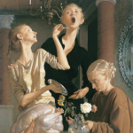 """Thanksgiving"" by John Currin, 2003"