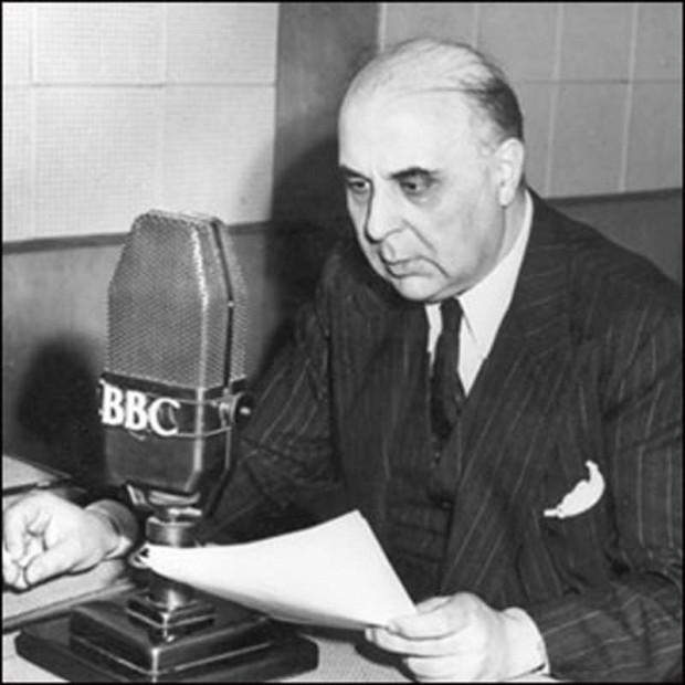George Seferis at the BBC (source: BBC Ελληνική)