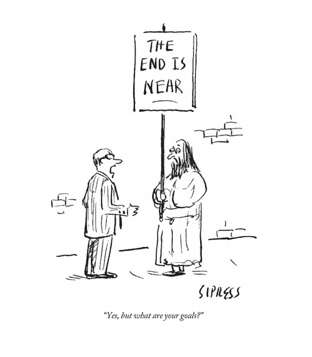 """""""The end is near"""" by David Sipress, for The New Yorker, November 28, 2011"""