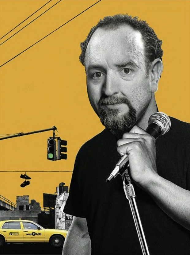 """Louis CK"", illustration by Eddie Guy, 2011 (The New Yorker, June 13, 2011, p. 127,  © 2011 Condé Nast)"